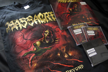 Massacre's T-shirt/LP/CDs